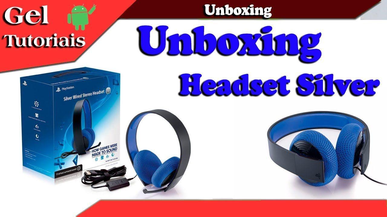 Veja o Novo Unboxing Headset Silver 7.1 Stereo Fone Sony Com Fio
