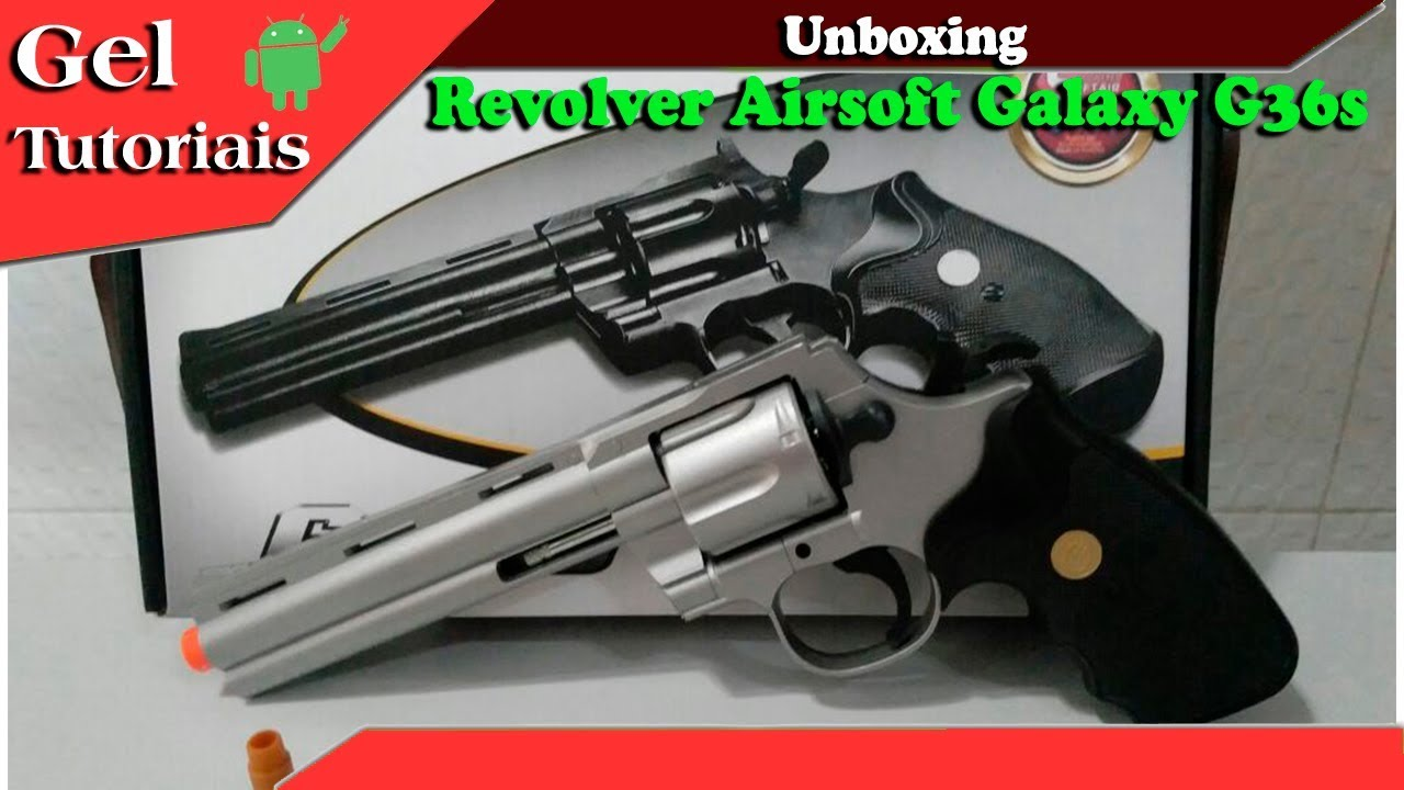 Unboxing Revolver Airsoft Galaxy G36s
